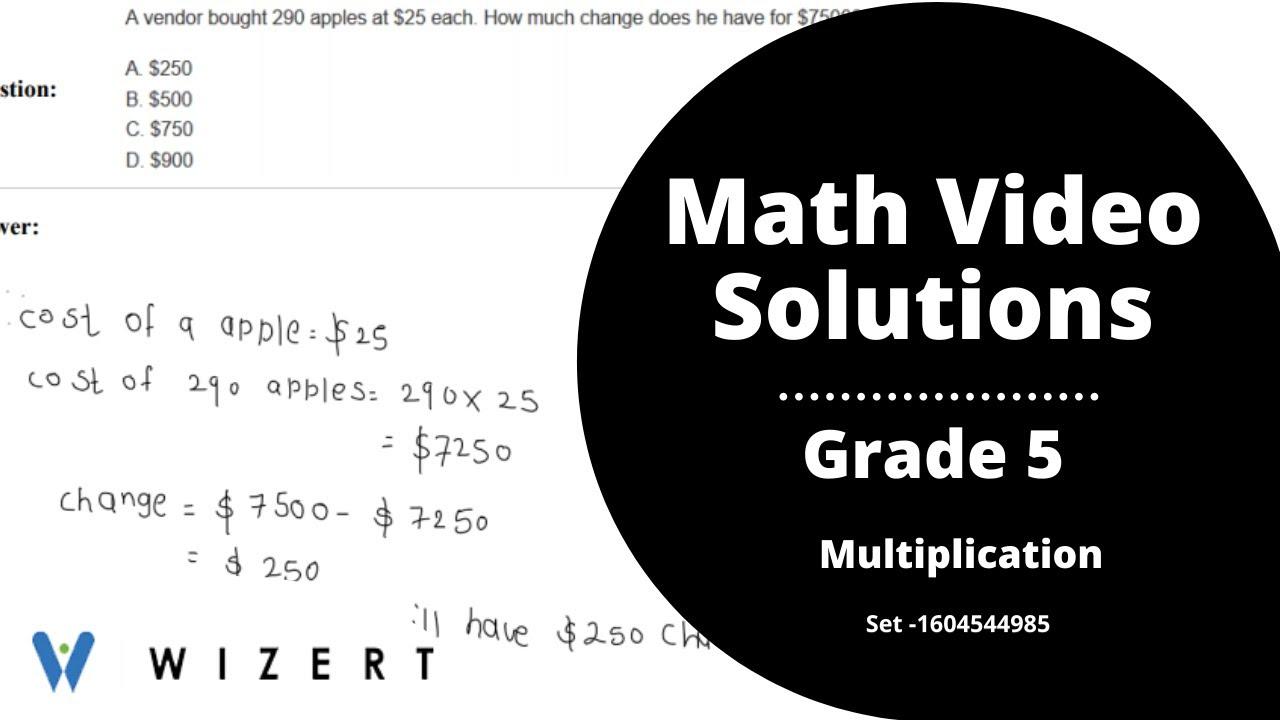 medium resolution of Maths Tests for Grade 5 - Grade 5 Multiplication worksheets - Set  1604544985 - YouTube