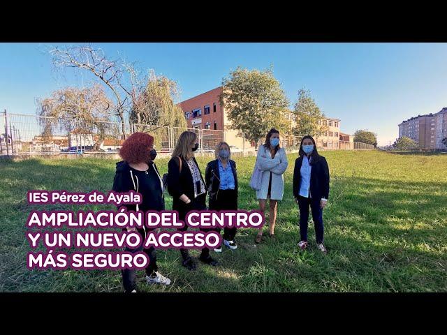 IES Pérez de Ayala: Ampliación del centro y nuevo acceso más seguro