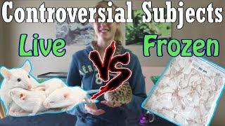 Con-Sub: Feeding Live vṡ Frozen Prey