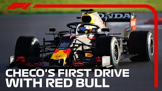 Sergio Perez's First Drive With Red Bull