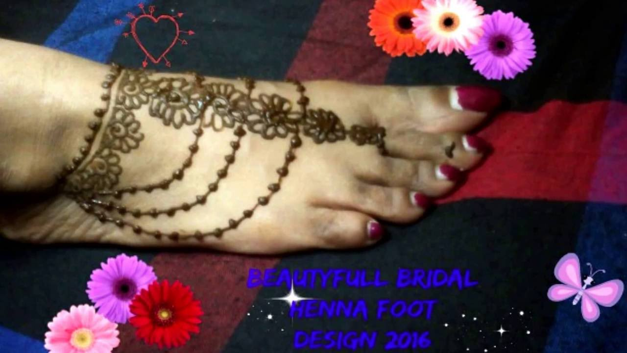 simple Foot Mehndi(henna)Design for beginners-beauty subash2018 ...