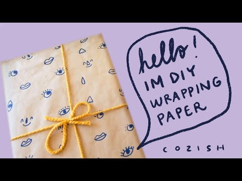 How to make wrapping paper - 2 Cute DIY Ideas | Cozish