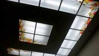 видео Витражный потолок в ванную