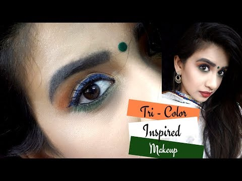 Tri-Color Inspired makeup Look|Indian Republic Day