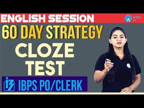 60 Days Strategy | IBPS PO/CLERK | Cloze Test | English | Anchal Ma'am | 10:00 A.M. |