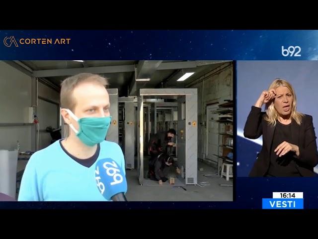 Corten Art tunel za dezinfekciju B92 reportaža