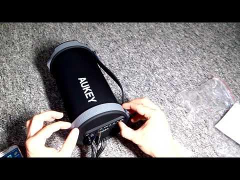 11 Watt Bluetooth Musik System Aukey SK-M18 mit Subwoofer Outdoor Camping Festival Lautsprecher 2.1