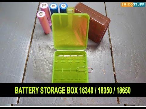 Boite de rangement accus et batteries 16340/ 18350/18650 - Battery Storage Box