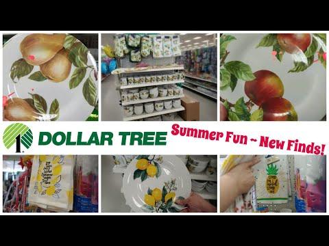 "DOLLAR TREE | NEW"" Summer Decor & Aisle Shopping ▪ Lemon Plates are Back!!!"