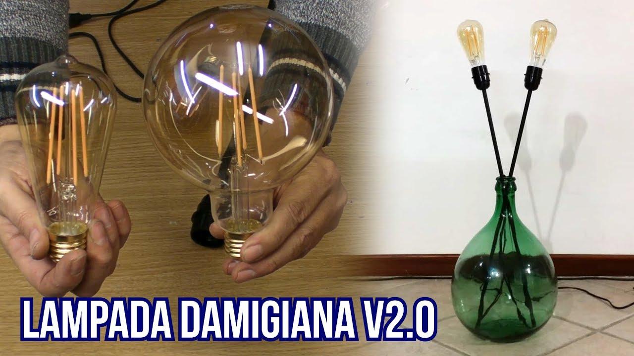 Arredare Con Le Damigiane costruire una doppia lampada con una damigiana