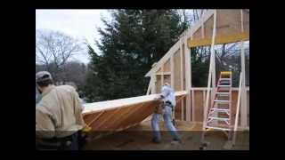 Framing A Garage Addition In Newburyport Ma