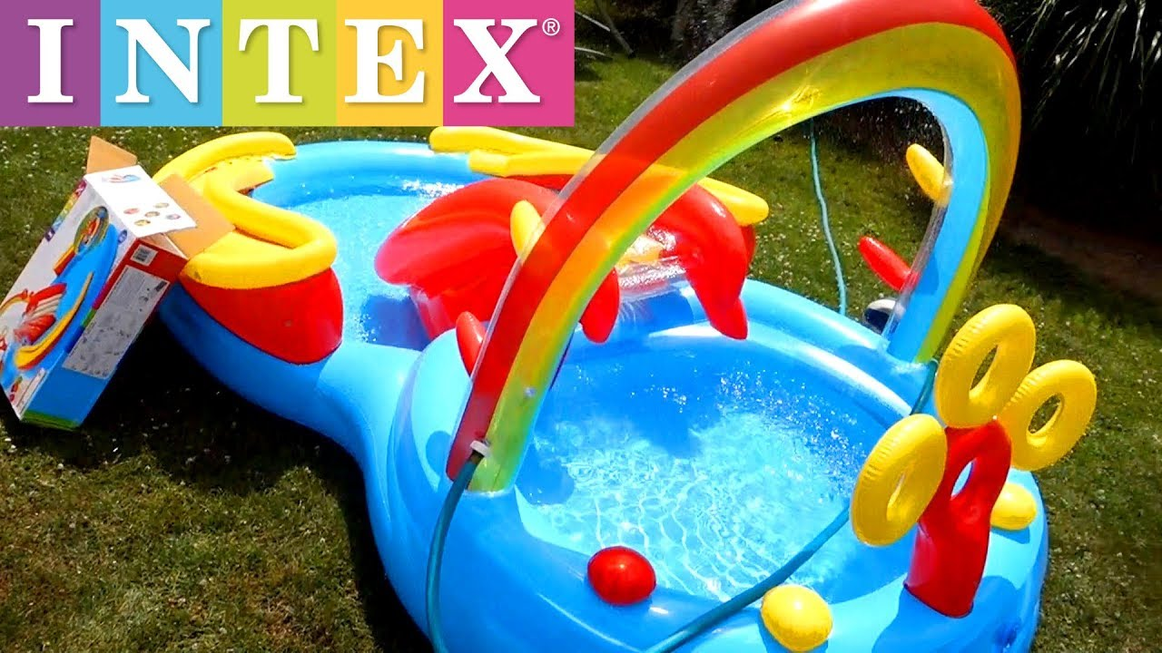 Aldi Intex Pool Intex Rainbow Ring Inflatable Play Center Pool Setup Tutorial