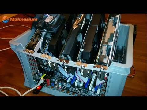 Most Efficient Mining Rig For Bitcoin / Litecoin / DOGEcoin ~3,2MH/s With 5x7950 Radeons In One Box