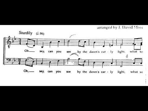 Star Spangled Banner TTBB with Sheet Music and Lyrics