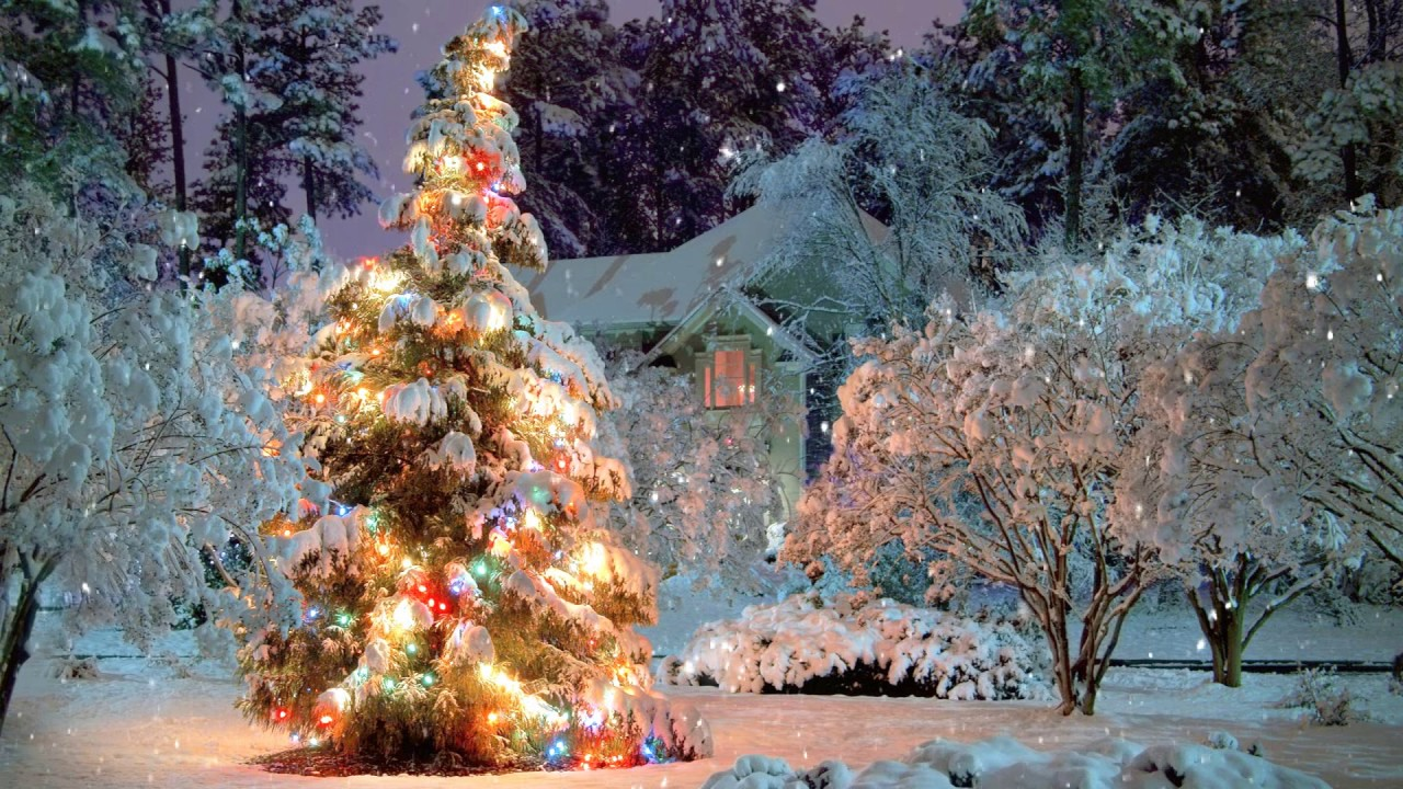 breathtaking christmas scene snowfall animation 21 songs