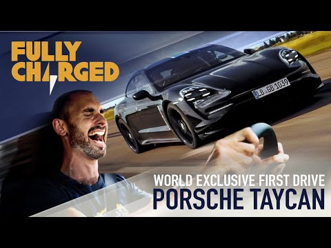 Porsche Taycan WORLD EXCLUSIVE genuine first drive & launch control testing 0-200kph | Fully Charged