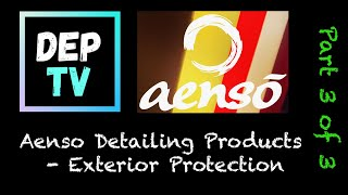 Aenso Product Test - Part 3 of 3 - Gleam Detailer - PureView Glass Cleaner - Orbit Tyre Dressing