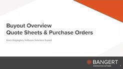Webinar Recording: What Is Buyout For Sage Estimating SQL?