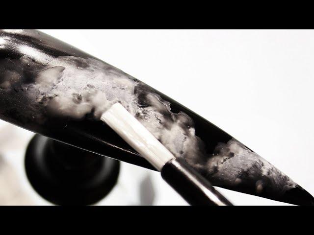 How To Create Opaque White Smokey Water Nail Art Design (Part 1)