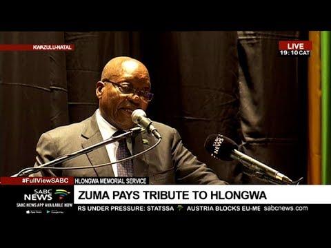 Jacob Zuma pays tribute to Bavelile Hlongwa at memorial service