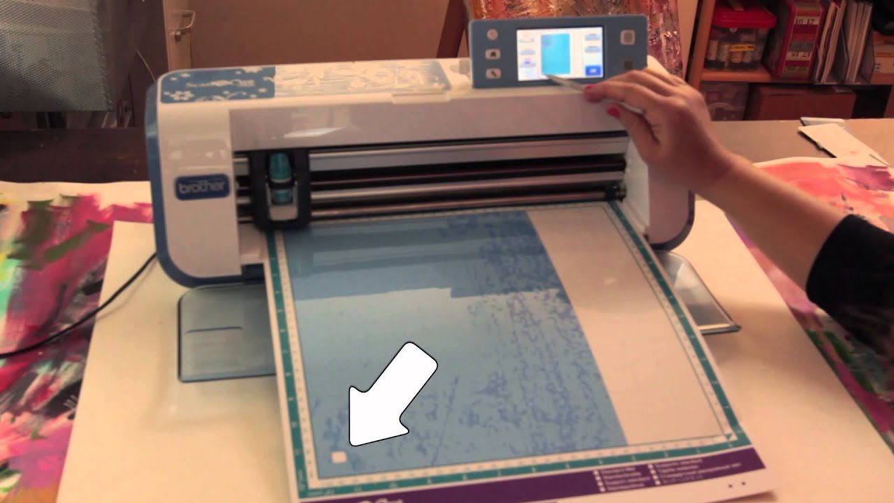 ScanNCut: Cutting a Plastic Stencil - YouTube