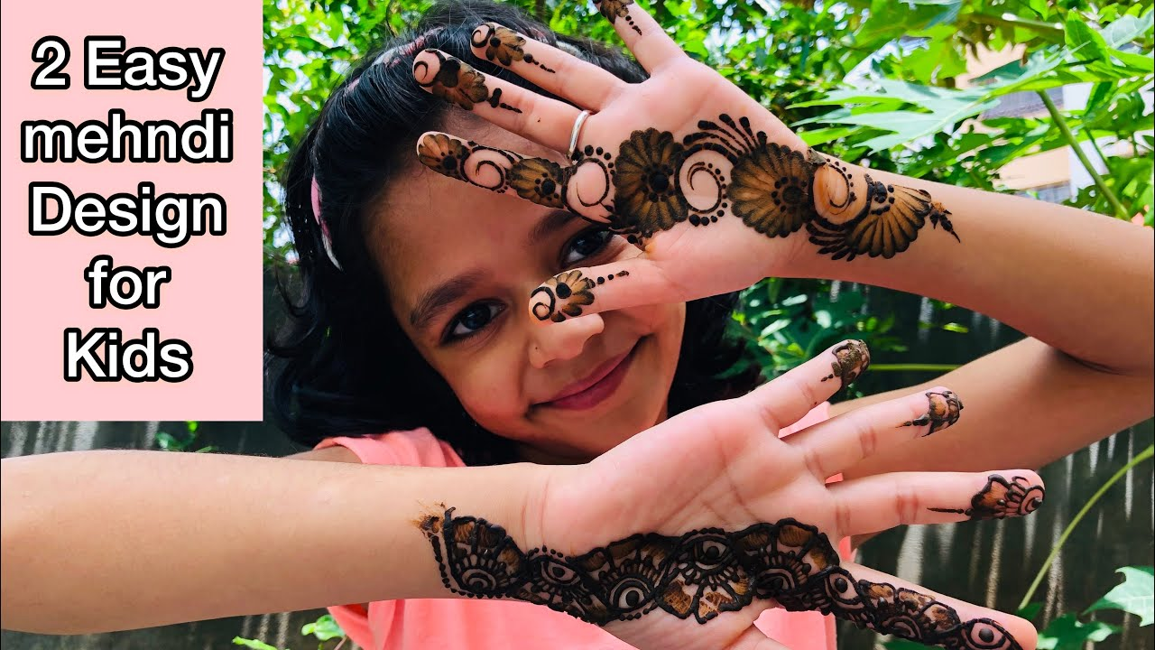 2 Best Mehndi Designs For Kids Easy Mehndi Design For Kids Front Hand Simple Girls Henna Design Youtube,Cool Minecraft Farm Designs