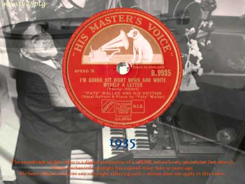 Fats Waller - I'm Gonna Sit Right Down and Write Myself a Letter (1935) 78RPM HQ