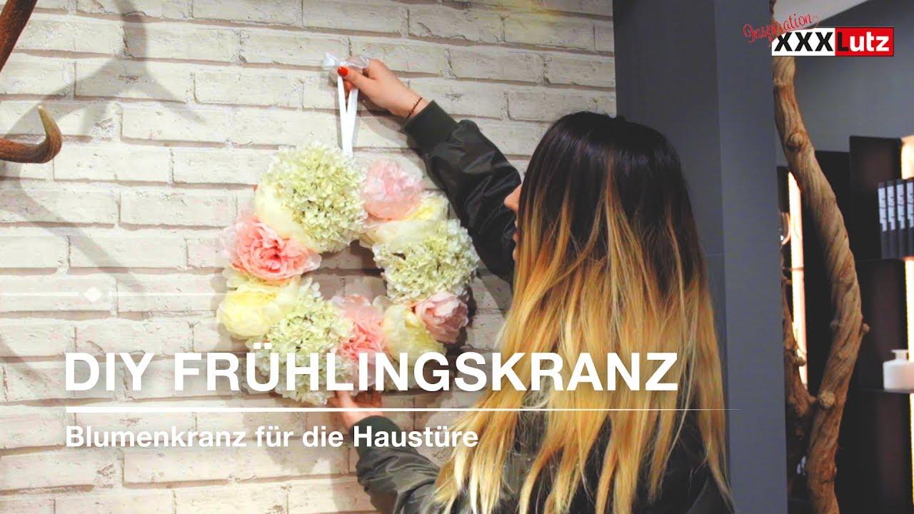DIY Blumenkranz  Frhlingskranz fr die Haustre  XXXLutz  YouTube