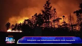 ไฟไหม้ภูกระดึง จ.เลย โซเชียลห่วงธรรมชาติและสัตว์ป่า ร่วมติด #saveภูกระดึง