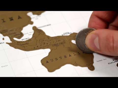 "LUKSTRA - Carte à gratter ""Scratch map"" édition voyage / ""Scratch map"" travel edition"