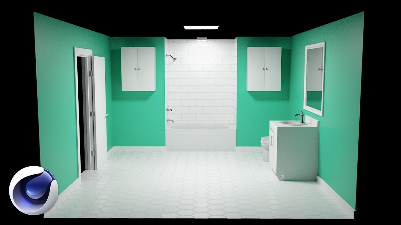 How to Design a Bathroom in Cinema 4D   Set Designer   YouTube How to Design a Bathroom in Cinema 4D   Set Designer