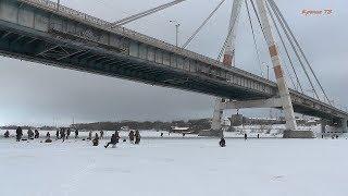 Рыбалка в Череповце. Запрет выхода на лёд р. Шексны снят.