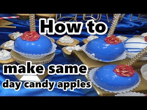 same day candy apples no bubbles