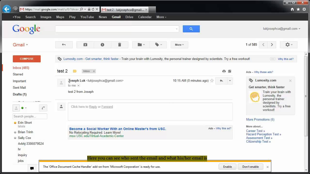 how to check your email (gmail user) | FunnyDog.TV