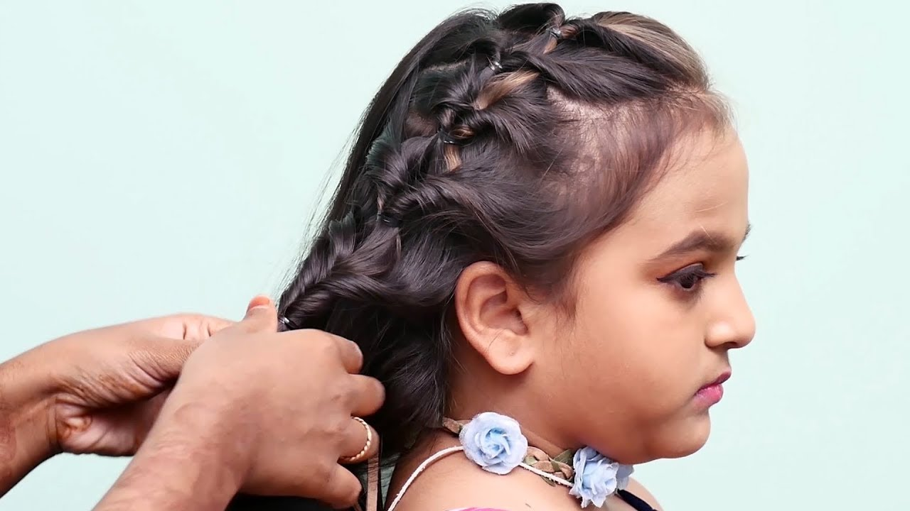 cute baby hairstyle | young girls hairstyle for medium hair | medium hair hairstyle for girls