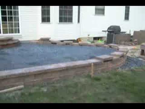 My Paver Patio 2008   YouTube