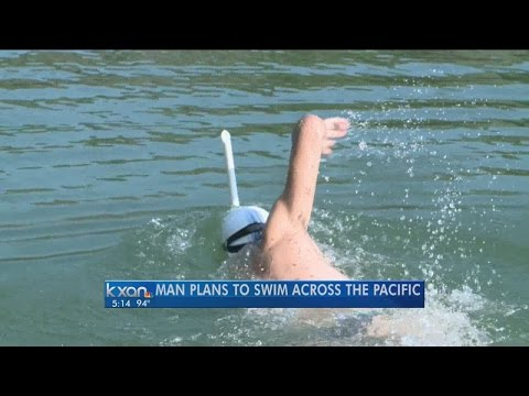 A Central Texas man plans on swimming across the Pacific Ocean this fall