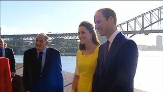 Prince William and Kate at the Sydney Opera House