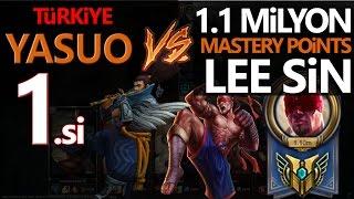 TR Yasuo 1.si vs 1.1 Milyon mastery Lee sin League of Legends Türkçe. LoL İzle