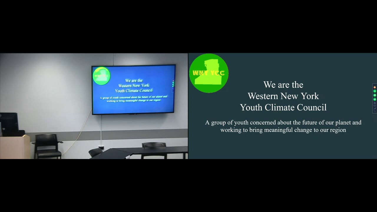 Western New York Youth Climate Council: Climate Change and Activism