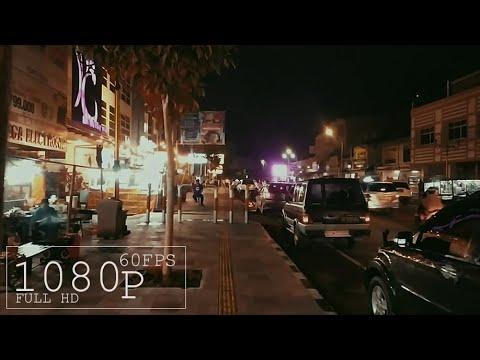 Mall Mataram city ambience walking at night, City sounds, traffic -lombok indonesia | [1080p]60fps
