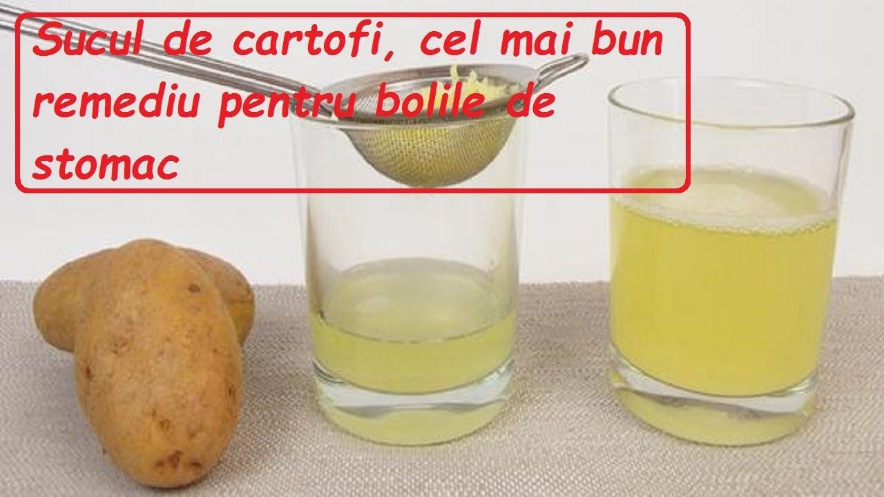 ?Sucul de cartofi, cel mai bun remediu pentru bolile de stomac Iată cum se prepară?