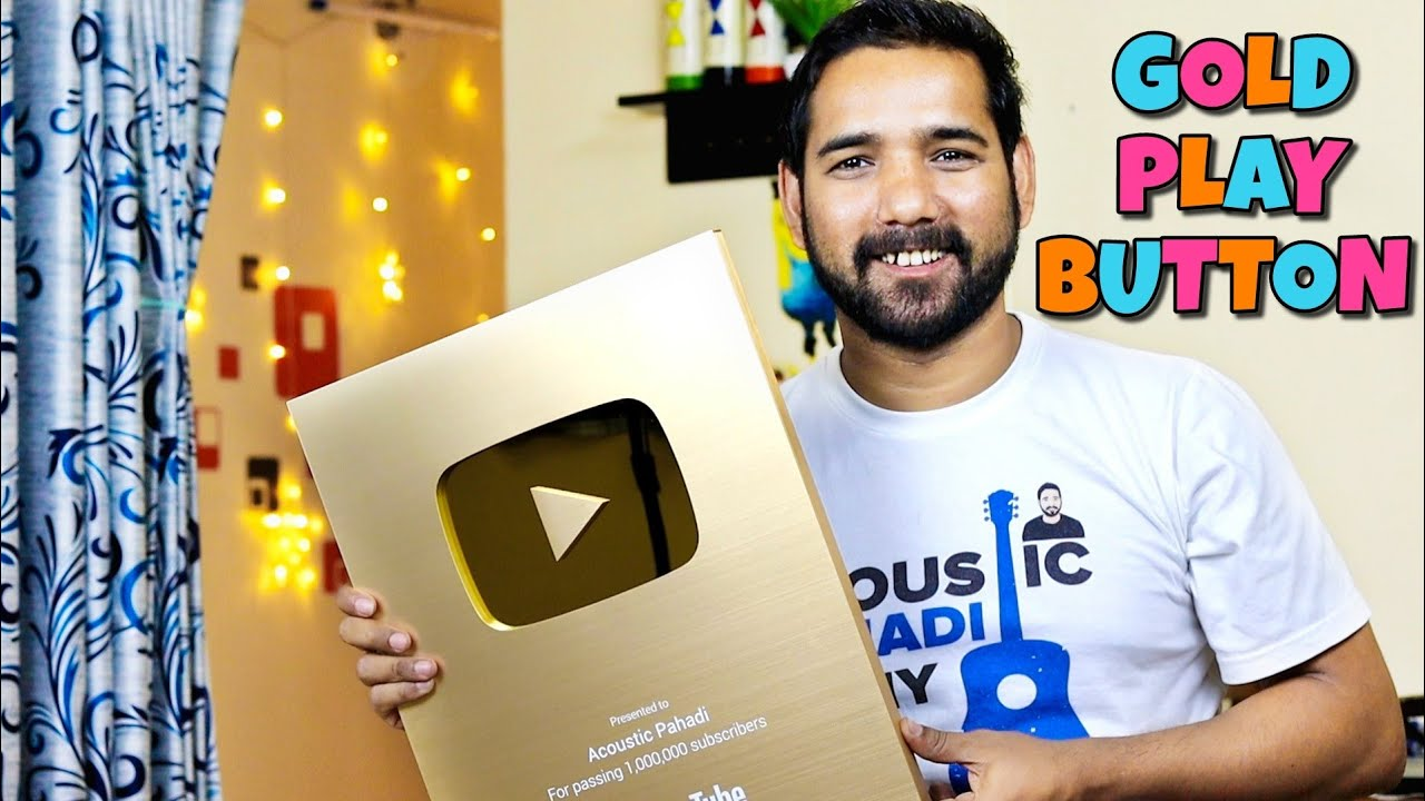 Youtube Gold Play Button Unboxing | Acoustic Pahadi |