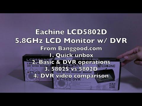 Eachine LCD5802D 40-Channel 5.8GHz Diversity DVR LCD Monitor