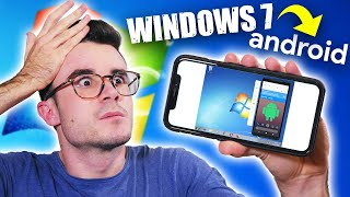 HO INSTALLATO WINDOWS 7 SU UN IPHONE PER EMULARE ANDROID e...🤯 *follia suprema*