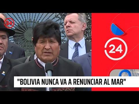 """Evo Morales tras rechazo de demanda ante La Haya: """"Bolivia nunca va a renunciar al mar"""""""