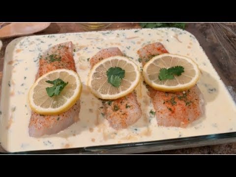 How To Make Baked Fish With Lemon Butter Cream Sauce