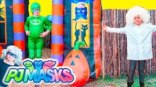 Assistant Hide n Seek with PJ Masks Gekko and Romeo and Luna Girl Halloween