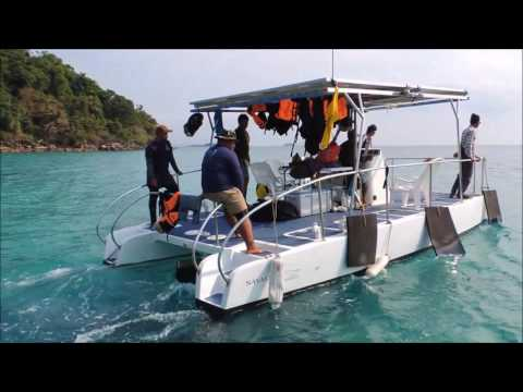 Solar powered boat for Ecotourism, Koh Mak, Thailand, Clean energy