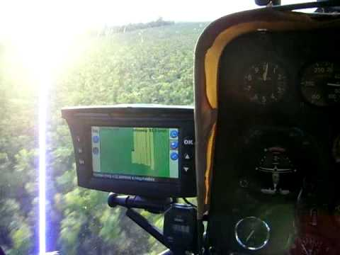 Trimble aggps ez guide 500 on the agricultural helicopter youtube sciox Images